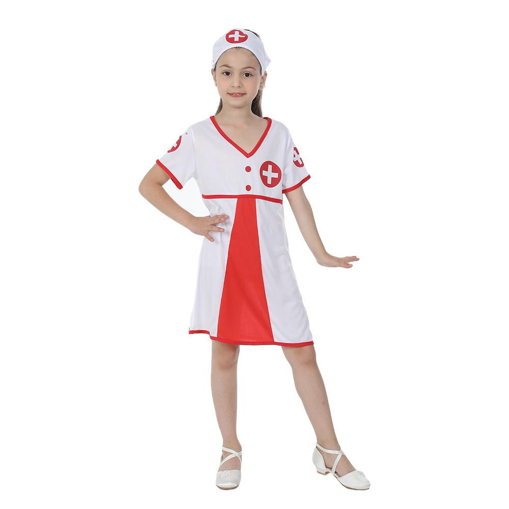 儿童职业cos角色扮演小护士装学校主题活动小女孩舞台表演衣服装