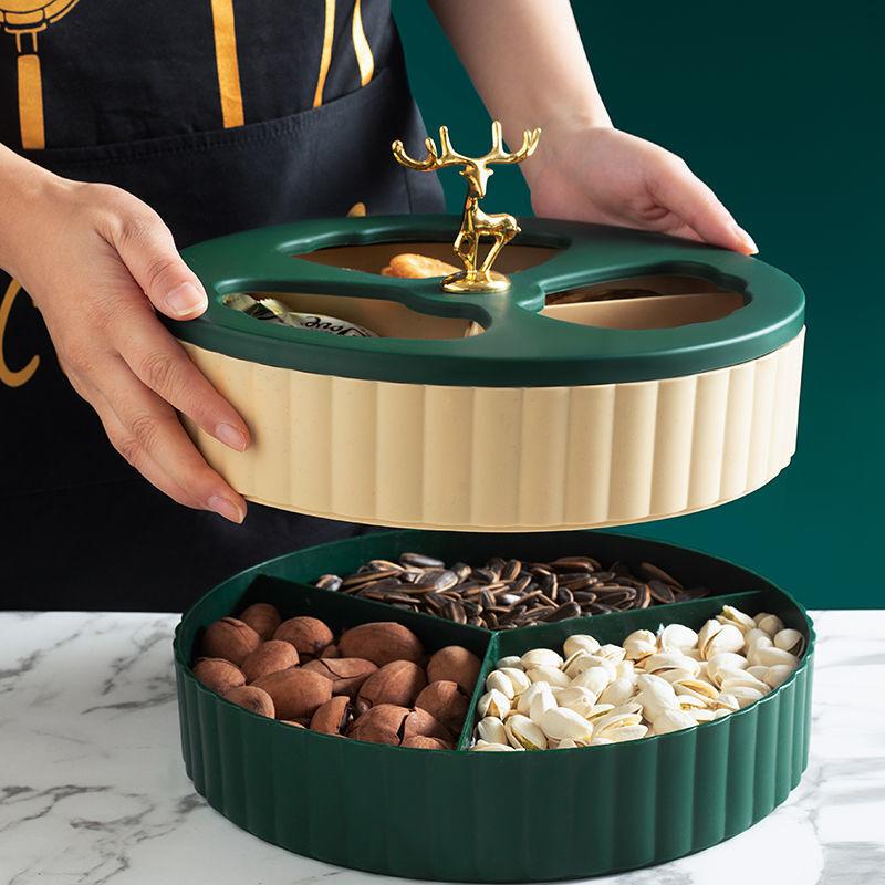果盘欧式创意现代客厅家用茶几水果盆北欧风网红零食干果盘水果篮