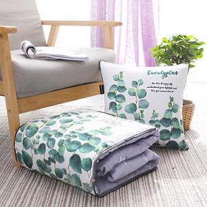 纯棉抱枕被子两用全棉办公室午睡枕头被汽车靠垫L折叠空调被