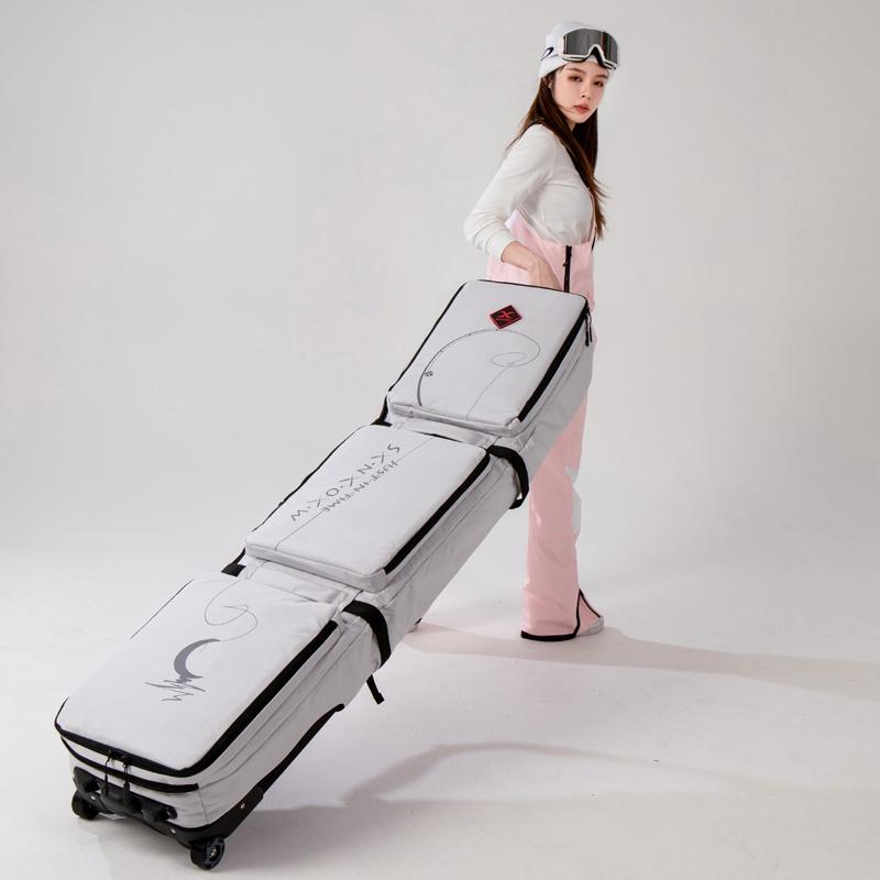 带轮可xxx包G滑雪双滚轮板雪板包托运包轮带包单板滑雪板包板双包