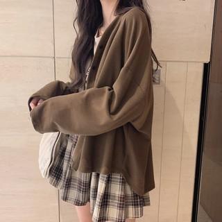 薄外套女装春秋季百搭2021新款韩版宽松学生小个子外搭开衫ins潮