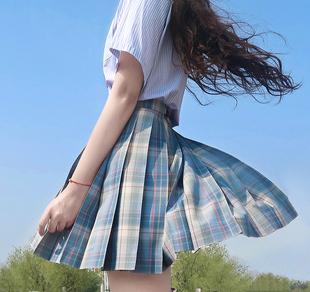 現貨掉落【瀨户內海】一尺間jk畫手原創格子百褶裙西式短裙