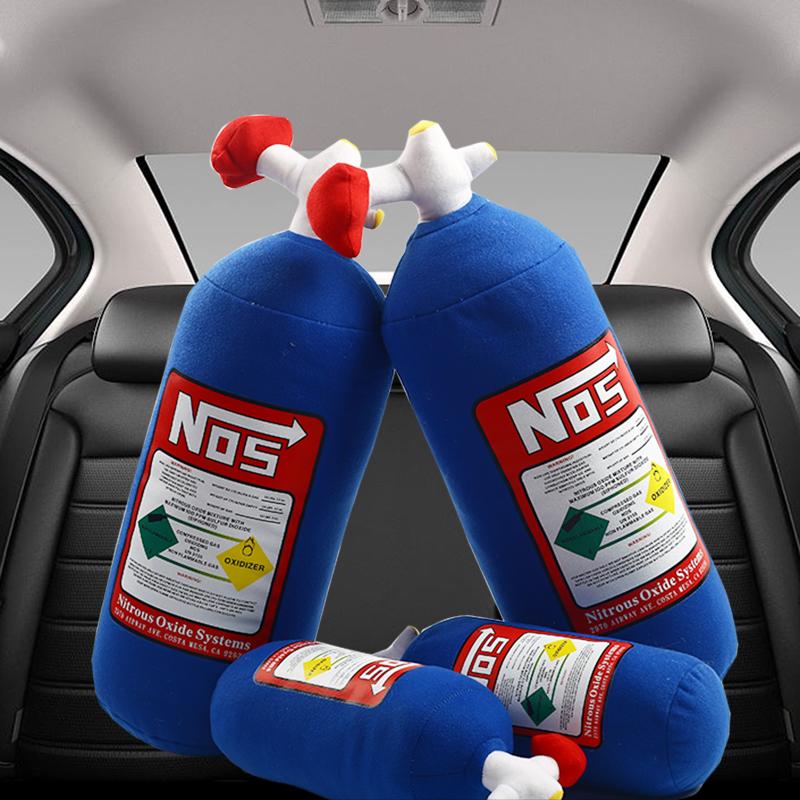 11月30日最新优惠nos氮气瓶头枕创意汽车改装抱枕
