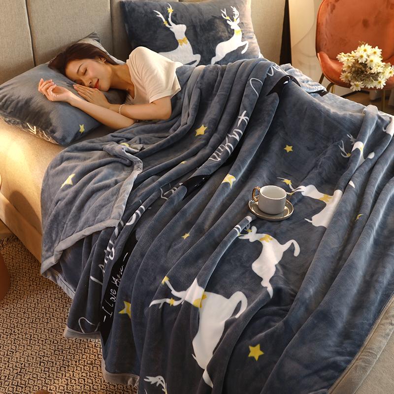 珊瑚毛毯子法兰人办公室春秋床单好不好