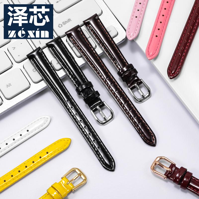通用款真皮手表带适配CK ELLE DW 依波飞亚达四叶草12/14/16/18mm