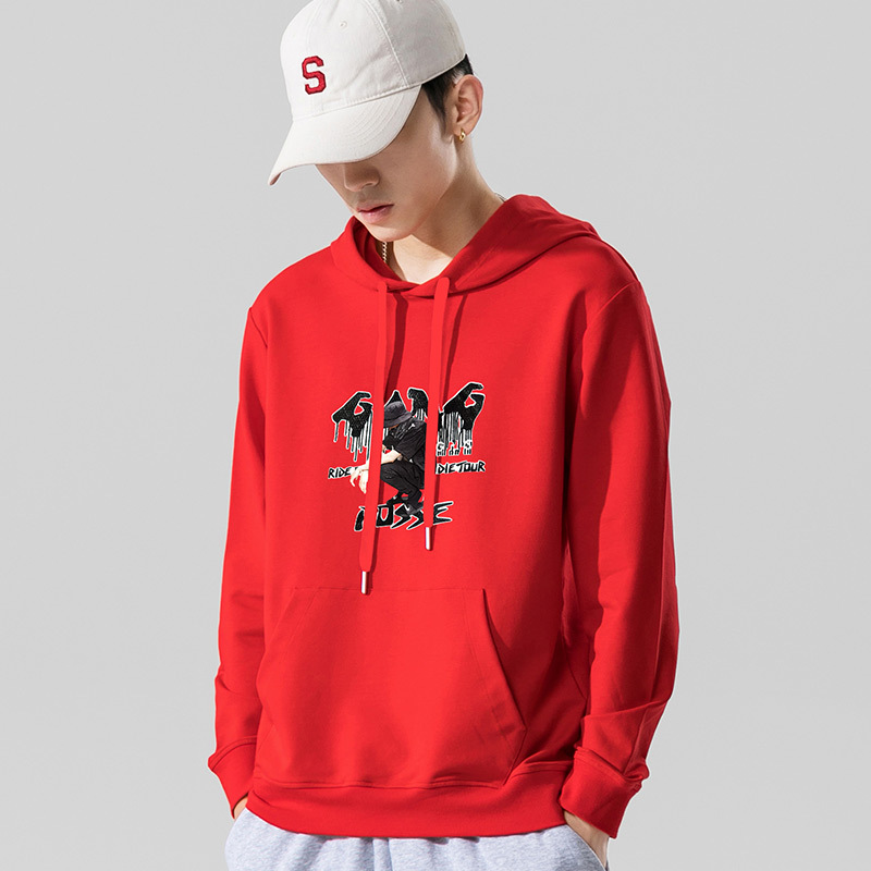 Legend Paul fashion round neck loose fitting mens Korean cotton trend printed Hoodie spring coat