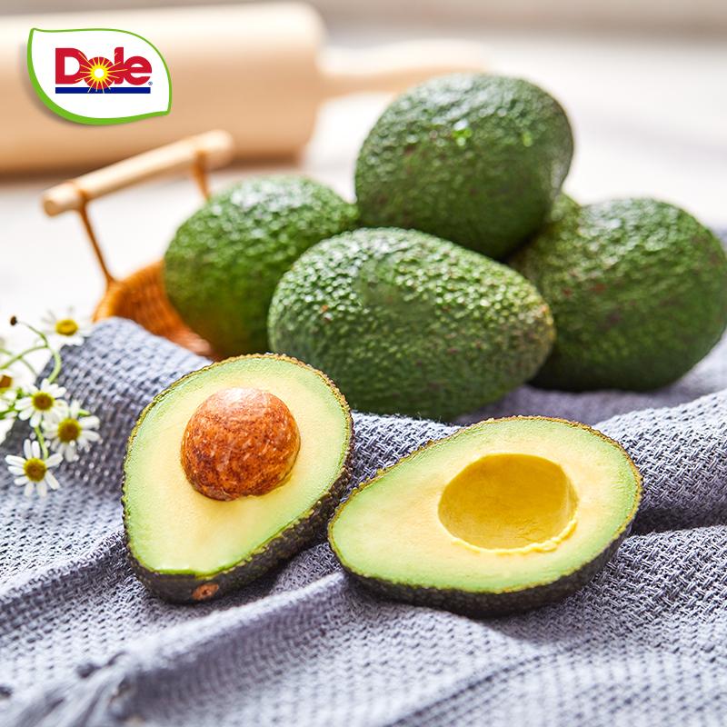 【Dole都乐】秘鲁进口牛油果4个单果约160g+ 新鲜应季水果