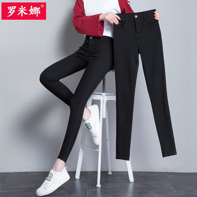 黑色打底�女外穿夏薄款高腰�U�P�n版�@瘦2018新款小�_九分�o身�