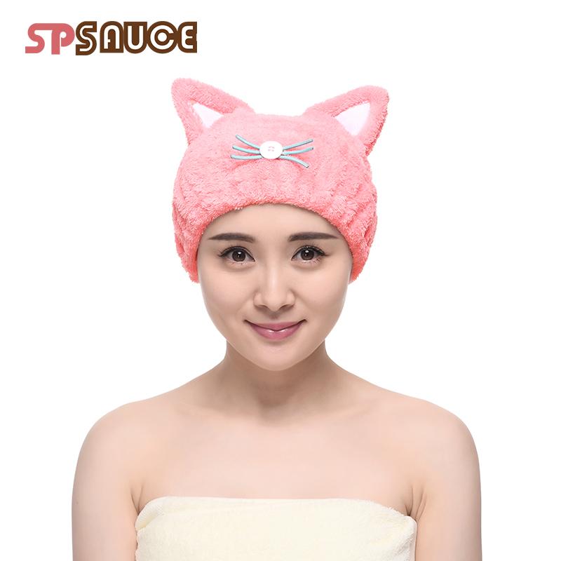 日本吸水干发帽卡通速干巾儿童宝宝女童公主韩国可爱包头浴帽神器(用17.9元券)