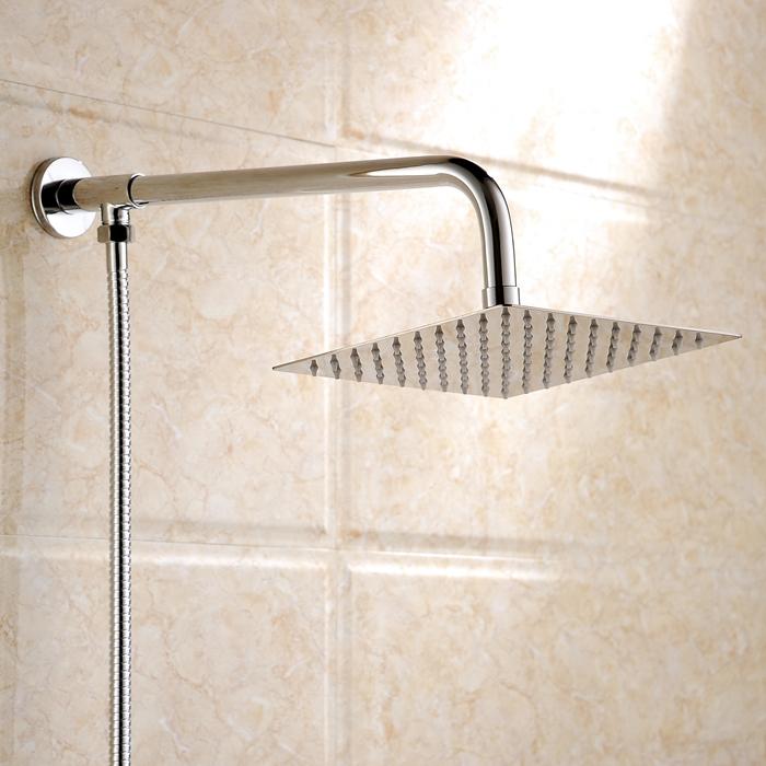 浴室超薄不锈钢淋浴大花洒顶喷头洗浴金属增压莲蓬头方形圆形8寸