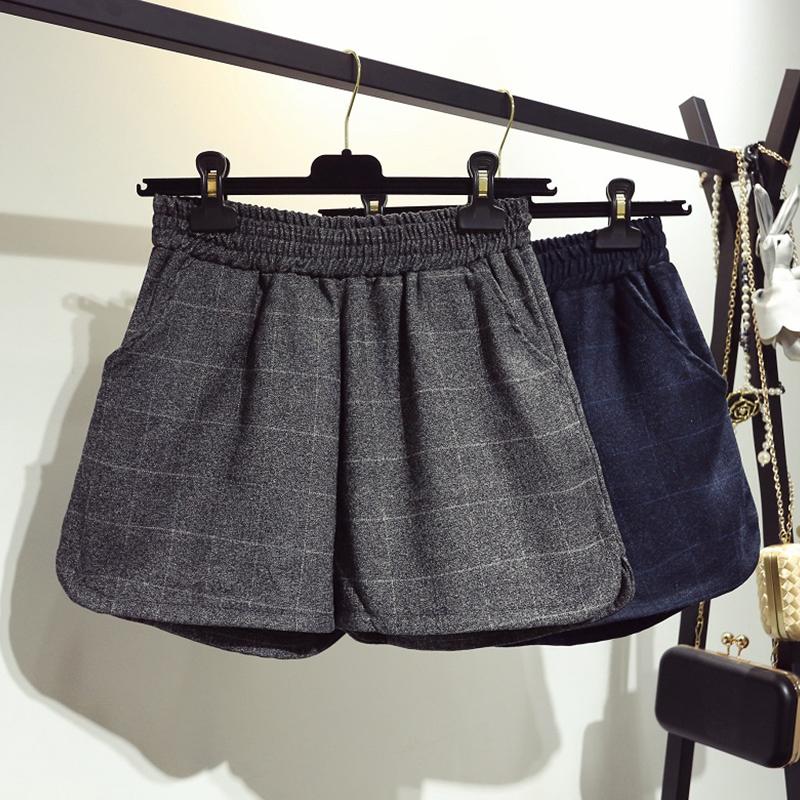 女裤短裤格子
