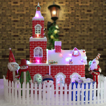 Christmas House Snow House Christmas Snow House Package shopping mall decoration scene layout kindergarten Christmas decorations
