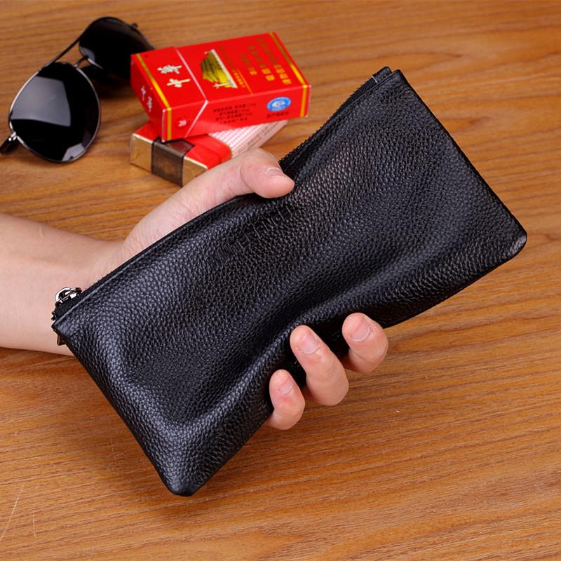 热销162件限时抢购真皮男士长款拉链青年超薄手机包