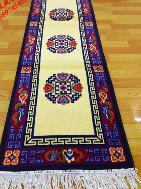 藏式地毯坐垫混纺地毯家居用品古清明风格藏式风格卡垫沙发垫
