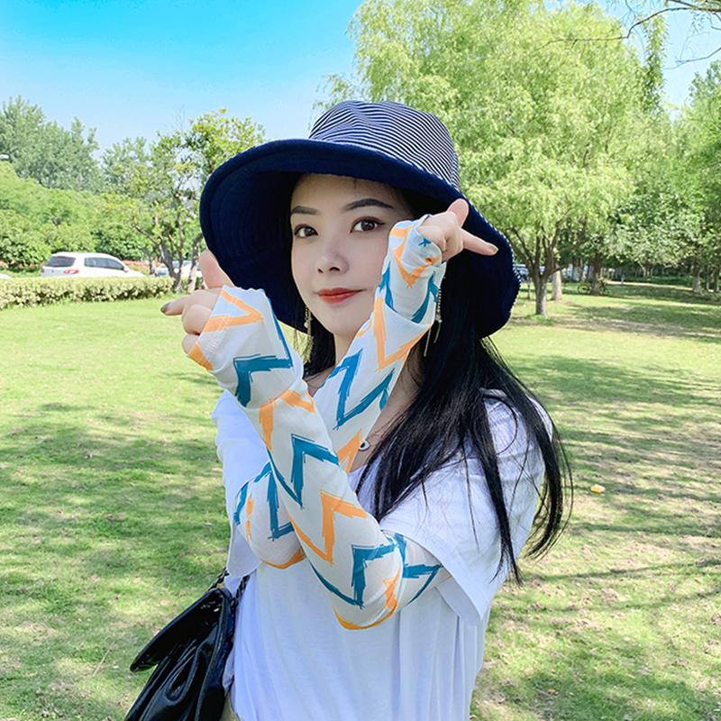 热销27件包邮夏季防晒护臂手袖可爱美少女袖套