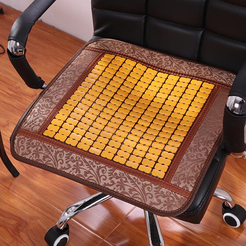 涼席坐墊辦公室透氣防滑椅墊學生電腦椅子夏天汽車麻將竹涼墊