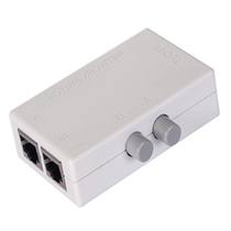 Szhy-link 2 RJ45 Network shareware 2 into 1 out manual RJ45 network switcher Two in one out.