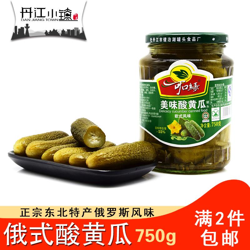 可口绿俄式酸黄瓜罐头750g网红酸黄瓜酸青瓜腌制蔬菜泡菜西餐汉堡