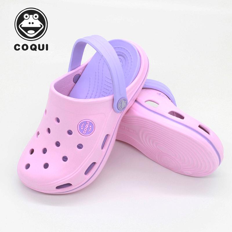 酷趣洞洞鞋儿童宝宝防滑沙滩鞋男女亲子男童中大童小童凉拖鞋夏季