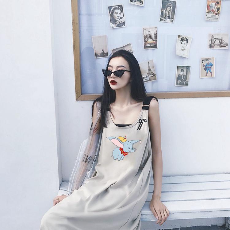 (180グラムの牛乳糸)女性の高級感のある吊りワンピース。夏の森系の日系古着vintageスカート