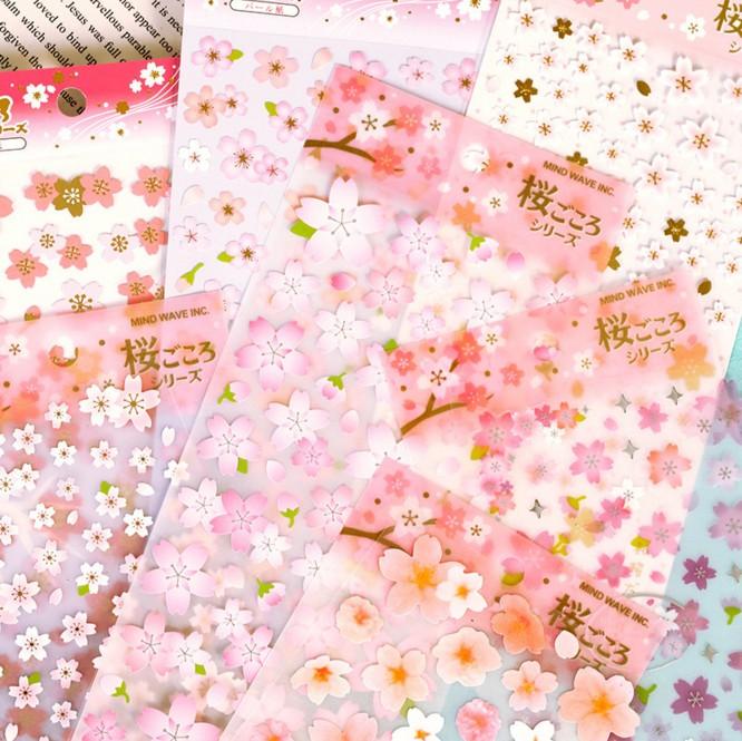 原品文具日式樱花专辑日本和风樱花贴纸浪漫手帐日记装饰贴纸