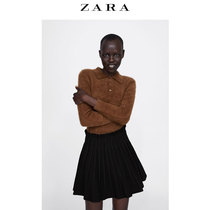 ZARA Womens small pleated miniskirt 04886260800