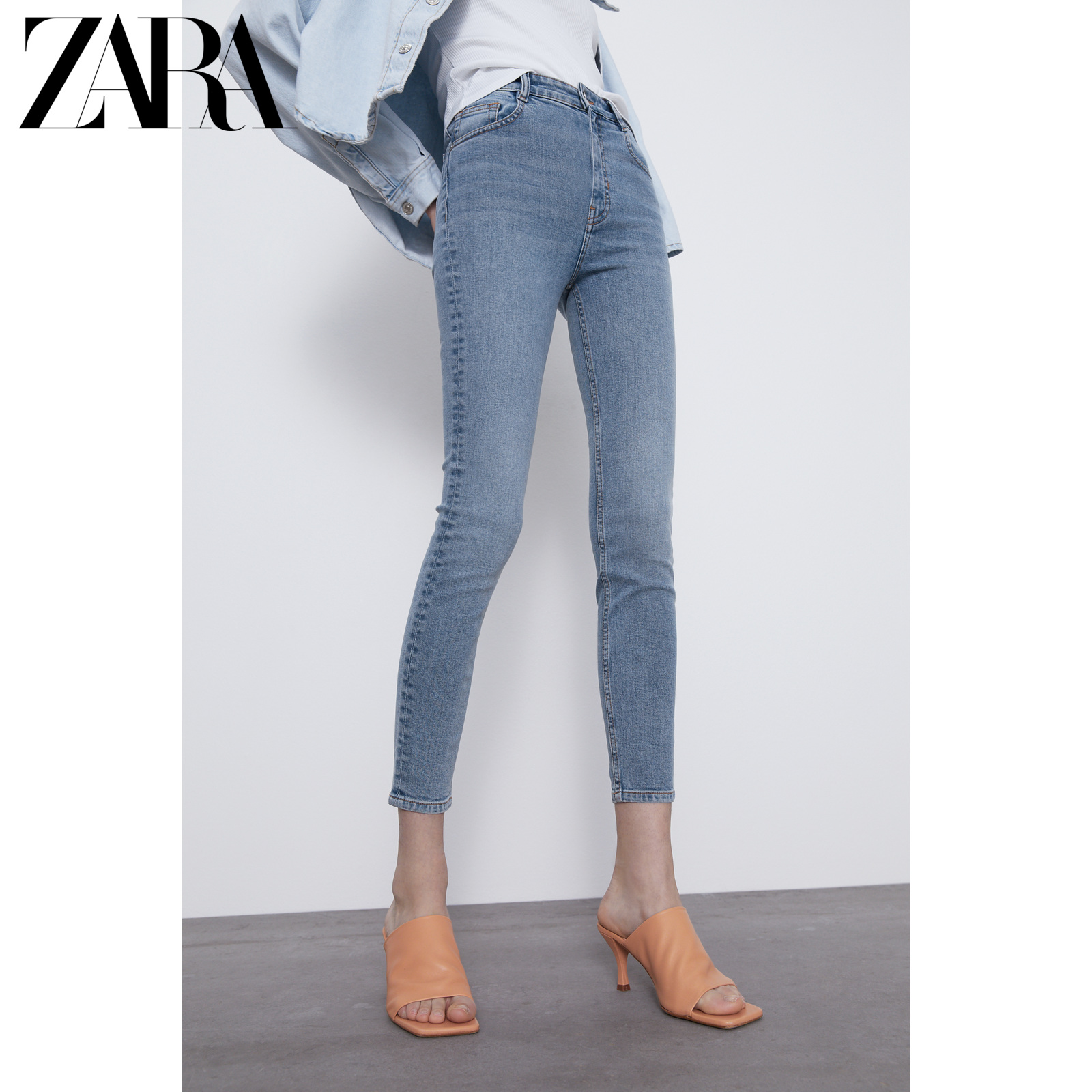 Zara new TRF women's Retro skinny high waist jeans 03643010485
