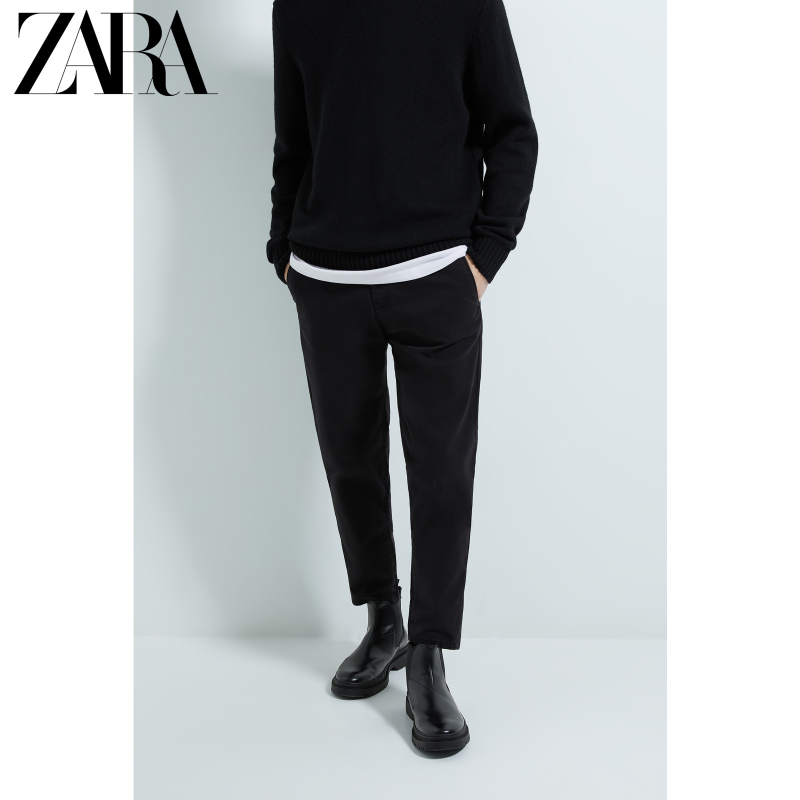 Zara new men's slim fit and ankle casual pants 01848300800