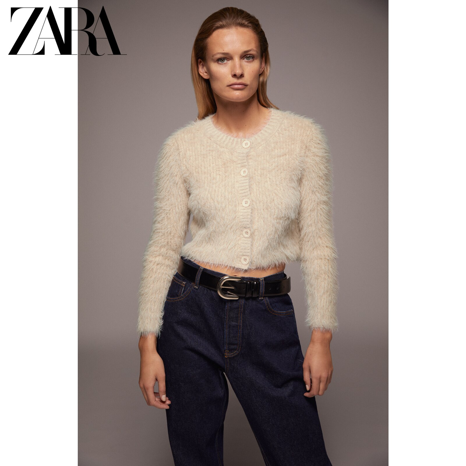 ZARA new faux fur effect coat 07901631711/n