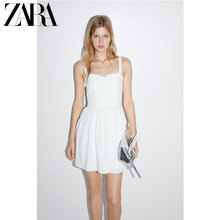 ZARA 2019 New TRF Women's Sugar Sweet Fold Care Machine Hanging Dress 07932005250
