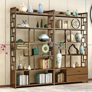 领5元券购买实木中式家具摆件古董展示柜博古架
