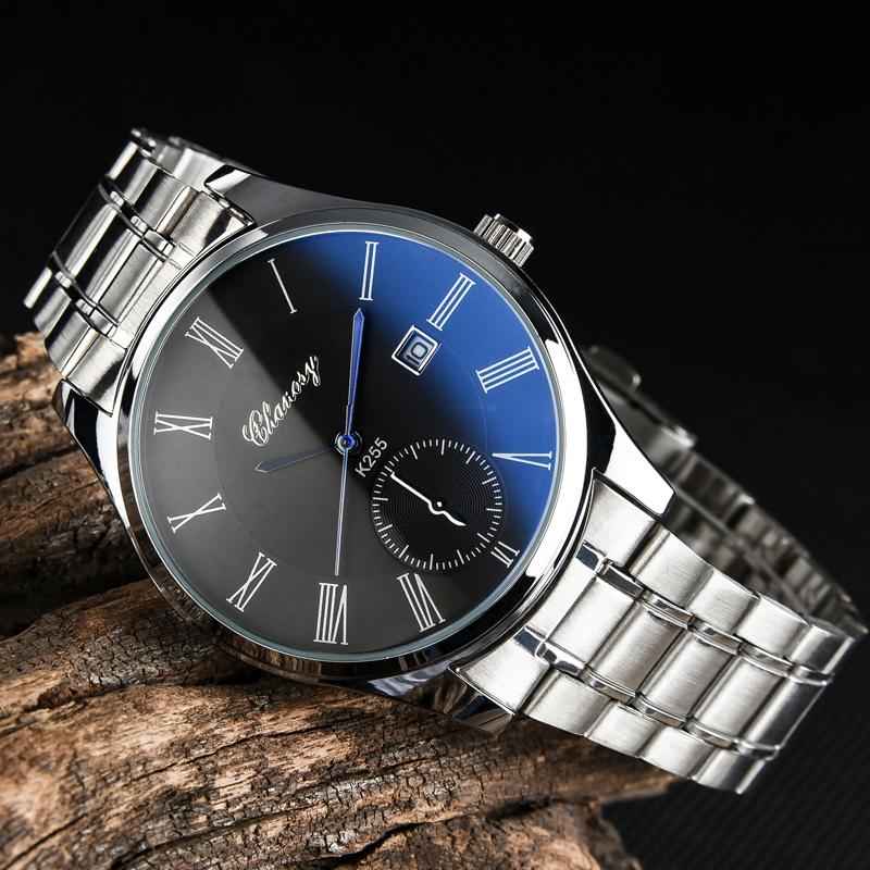 正品真皮帶超薄男表防水簡約學生表石英手錶男士皮帶時尚腕表