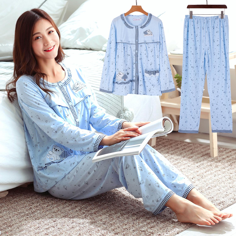 Лето пот хлопок помещение одежды весна большой двор беременная женщина пижама лето свойство женщина послеродовой грудное вскармливание одежда очень