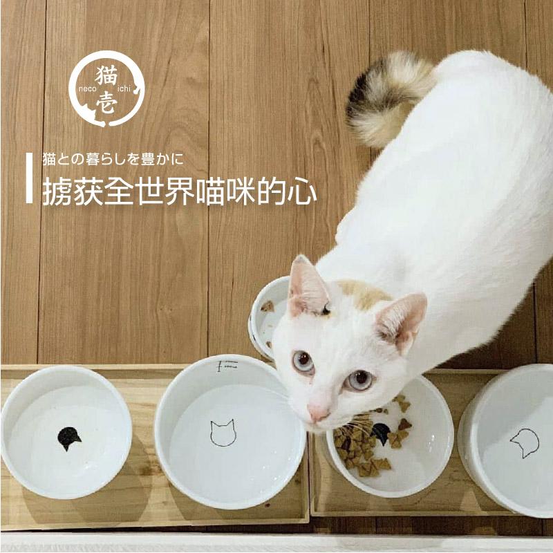 日本のペットの猫の犬の日用品の猫の壱食器は水を飲みます。