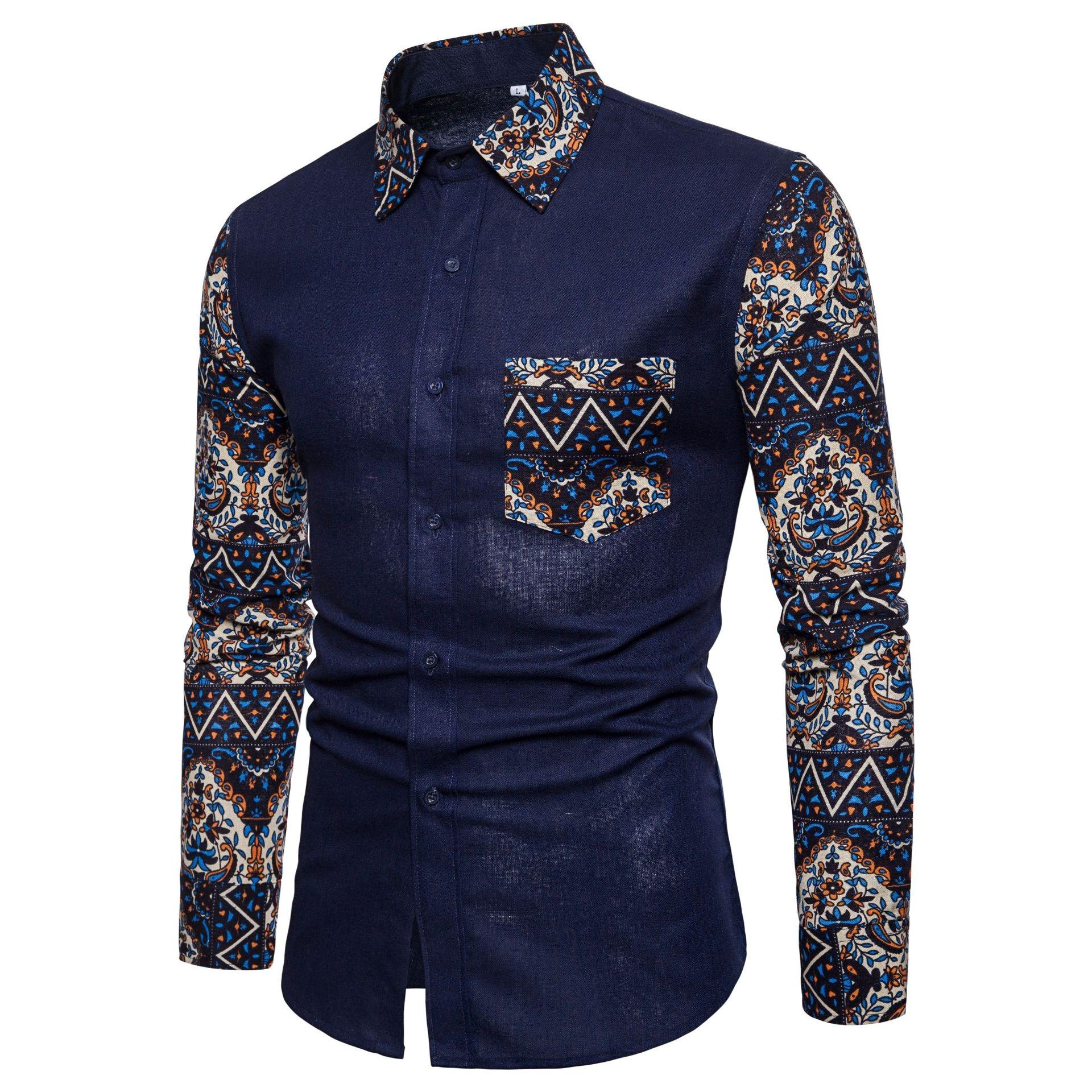 Mens Long Sleeve Shirts Slim fit Casual Shirt for Men 男衬衫