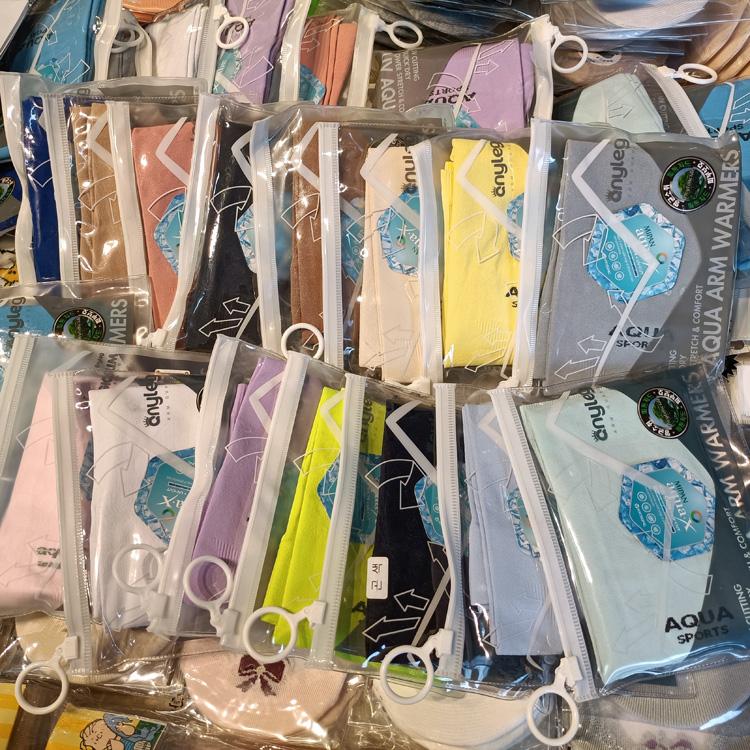 韩国进口冰丝防晒袖套男女通用速干手套户外运动防紫外线冰袖套
