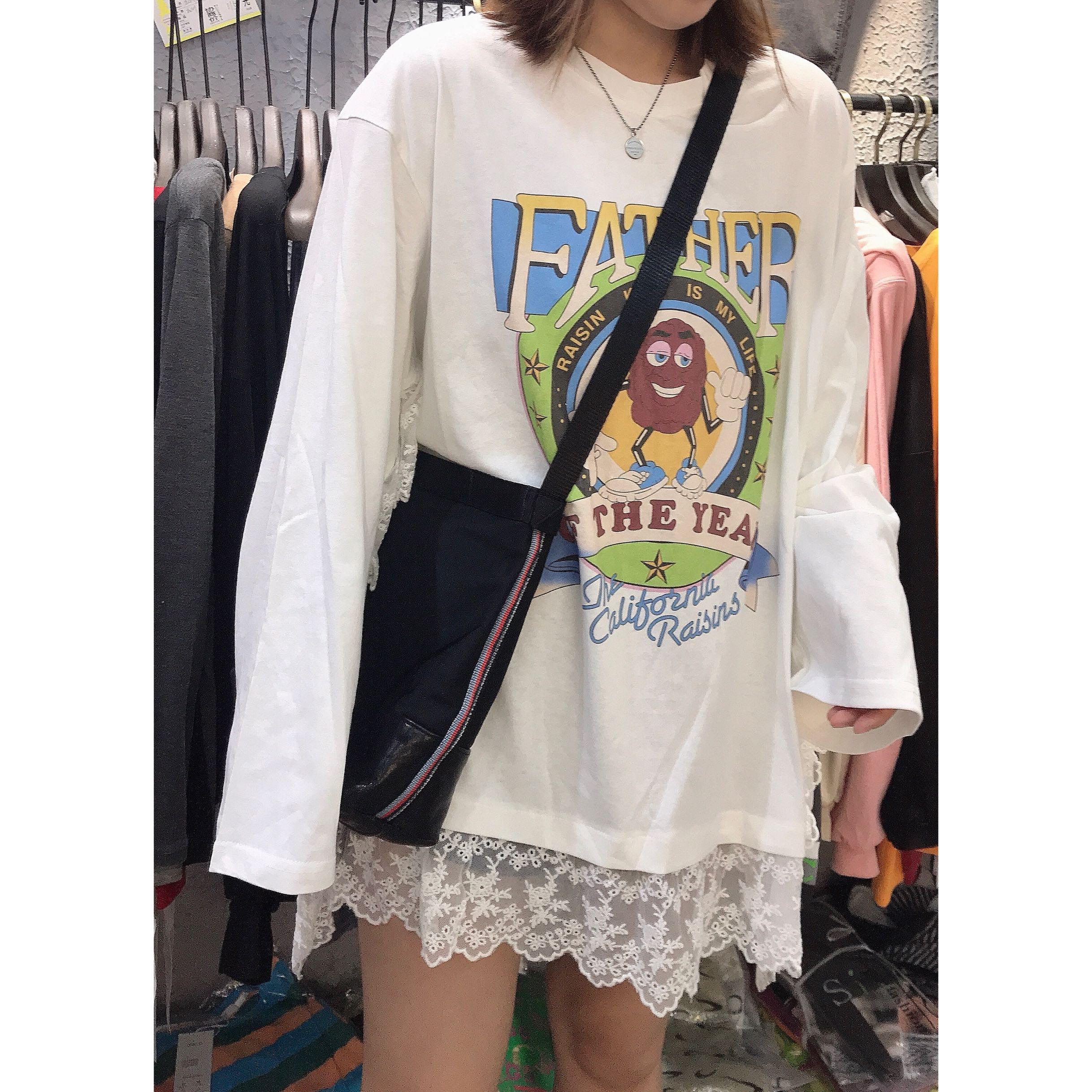 拼蕾丝长袖女2019新款韩版宽松t恤热销0件包邮