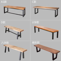 American solid wood stool casual wooden Bench Home Office reception long Chair Bed tail stool Table Stool Customization