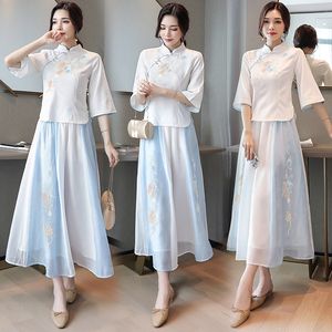 中国风汉服2021夏季新款古风连衣裙