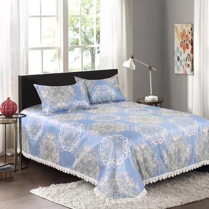 床裙冰丝凉席三件套1.8m床可水洗空调软席机洗床单1.5米双人席子