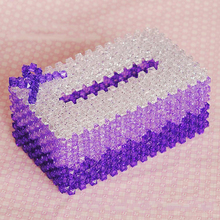 Handmade Beaded DIY jewelry materials wrapped in tissue boxes, napkins, cartons, cartons, home furnishings and knitting crafts