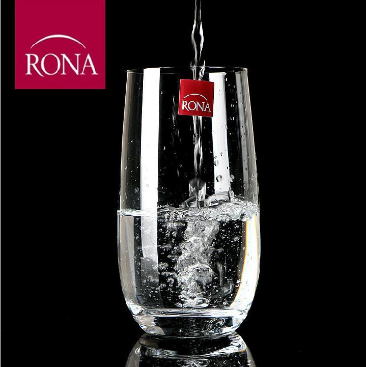 包郵rona 水杯耐高溫透明茶水杯 水晶玻璃杯直身果汁杯牛奶杯