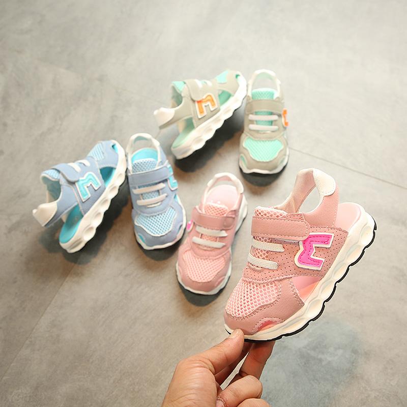 2018夏新款韓版兒童涼鞋鏤空運動鞋男童鞋網鞋寶寶鞋女童鞋半涼鞋