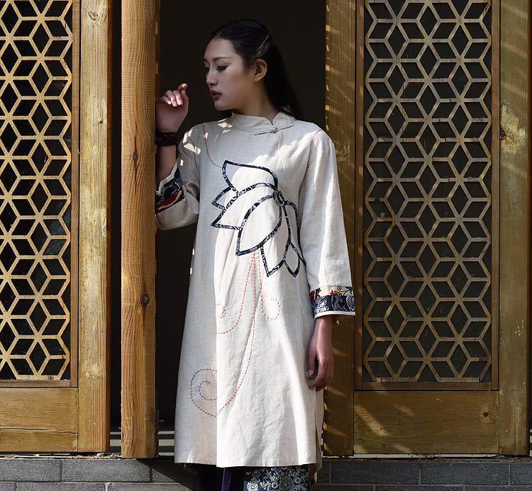 P-02 女装复古改良旗袍中国风女装新款 服装纸样裁剪图纸打版制版
