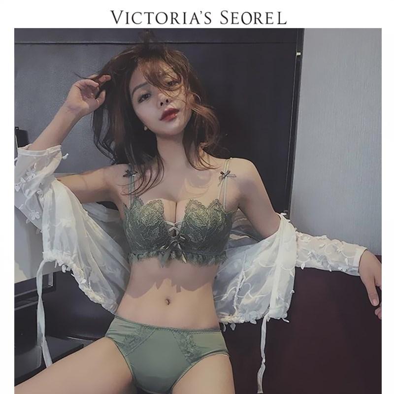 维多利亚性感内衣聚拢无钢圈上托防下垂文胸罩美背bar的秘密