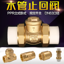 DN15 20 25 Brass Check Valve 4 6 min 1 inch horizontal reverse valve inner and outer wire water pipeline one-way valve PPR