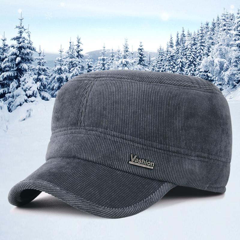 新款秋冬季男士休闲平顶帽鸭舌帽子券后29.00元