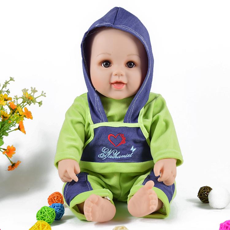 軟塑膠仿真娃娃嬰兒手腿會動洋娃娃家政早教親子兒童玩具