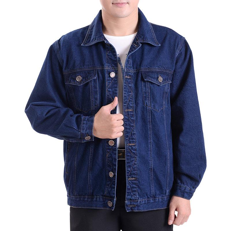 Spring and autumn jeans uniform electrician auto repair clothing labor protection thin jacket work clothes middle aged coat mens Wear-resistant work clothes