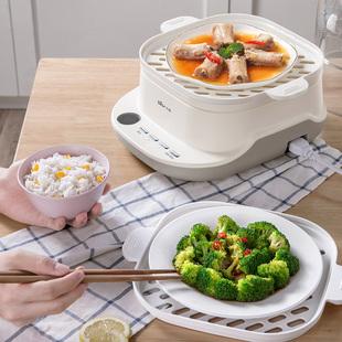 小熊电蒸锅家用小型多功能双层大容量插电蒸菜神器预约定时电蒸笼图片